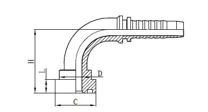 4SH Hose Assembly fitting Drawing