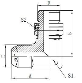 BSP O-ring Adjustable Stud Stud