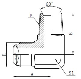 BSPT Male Adapter Connectors Drawing