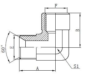 Sikat BSP Adaptor Fitting Drawing