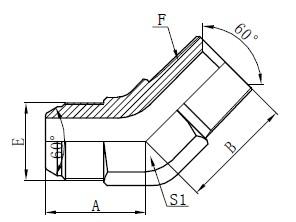 JIS GAS Elbow Connectors Drawing