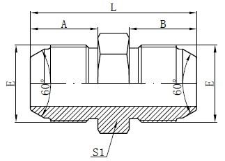 Adat JIS Metric Male Drawing