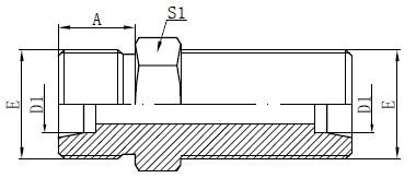 Konektor Bulkhead Metrik Gambar