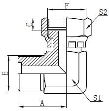 Gambar Fitting O-ring Laki Metrik