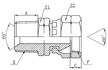 NPSM Adapters Fittings Drawing