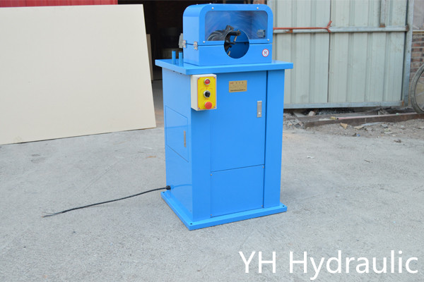 hydraulic hose skiving machine